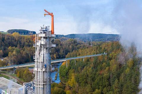 Luftaufnahme der Zellstofffabrik Mercer Rosenthal in Rosenthal am Rennsteig, Deutschland