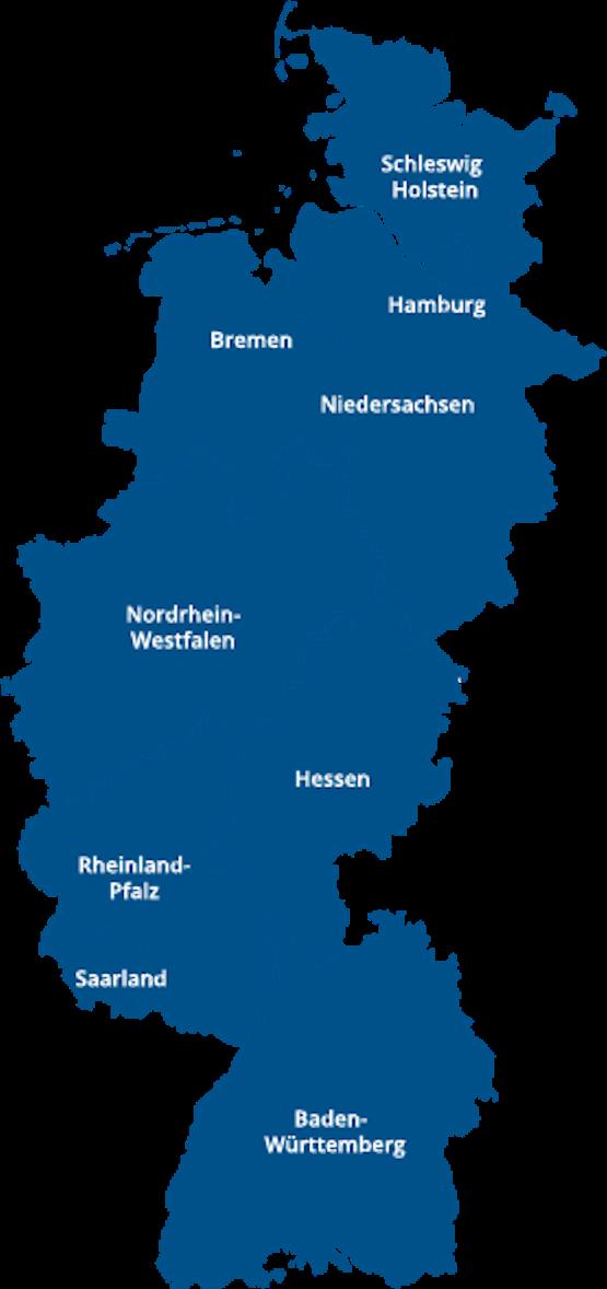 Westliche Region von Deutschland und von Mercer Holz Betriebe