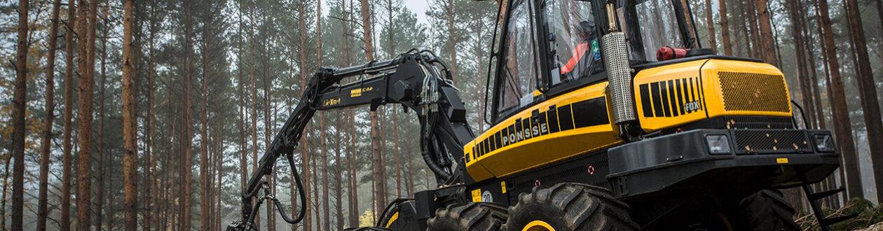 Ein Mercer Holz-Harvester im Harz
